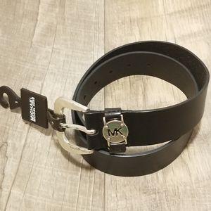 Michael Kors Black Leather Small Belt NWT